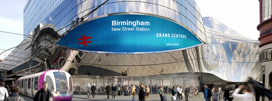 how to get from birmingham airport to new street station