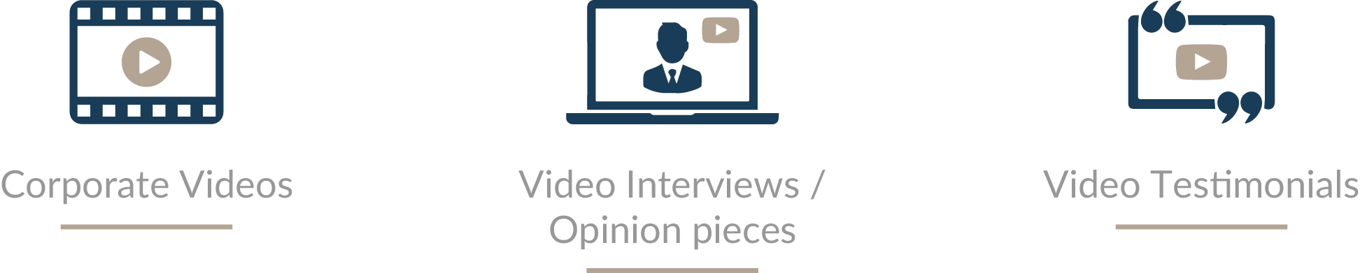 Corporate Videos, Video Interviews and Opinion Pieces, Video Testimonials